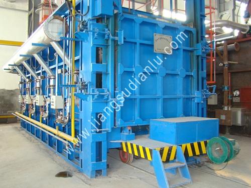 天然氣熱處理爐(lu)生產現場