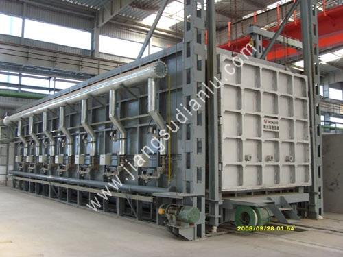 16米新型燃氣熱處理爐(lu)